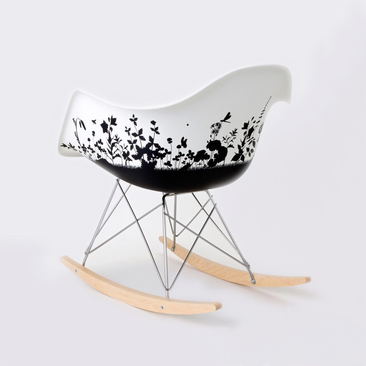 Painted Eames rocker | Chairs | Pinterest | Eames rocker ...