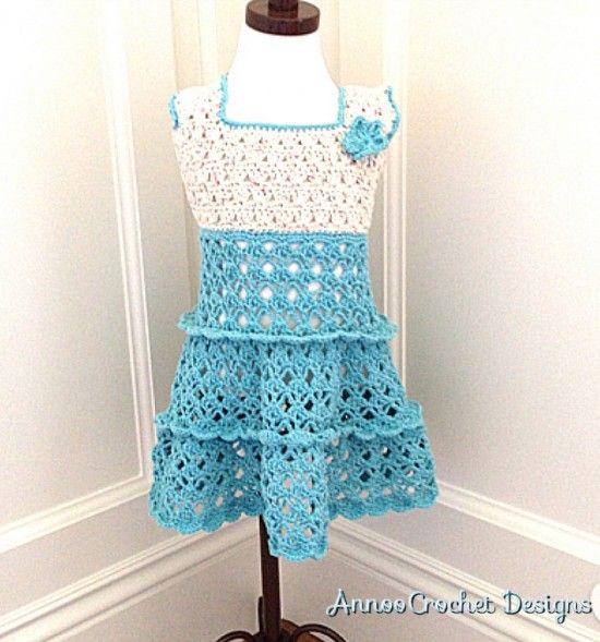 Crochet Heart Dress And Beret Set Free Pattern | Free pattern ...