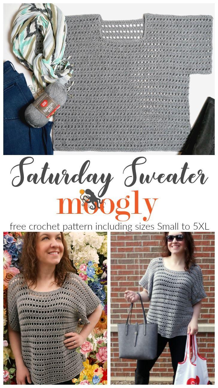 Saturday Sweater | CrochetHolic - HilariaFina | Pinterest ...
