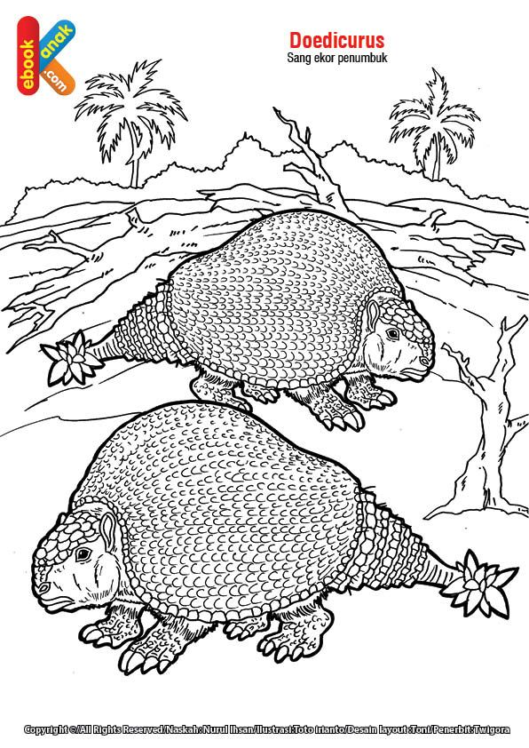 Hewan Purba Doedicurus Hewan Gambar Warna