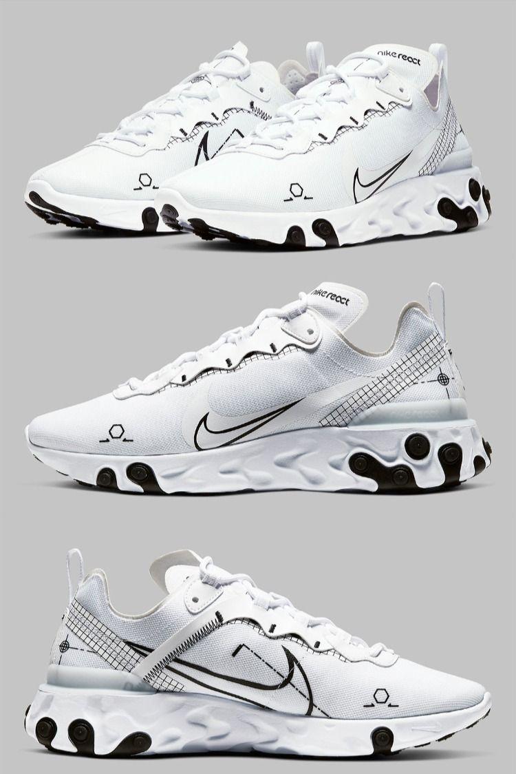 "Nike React Element 55 ""Schematic"" CU3009-100 Release Info | Nike ..."