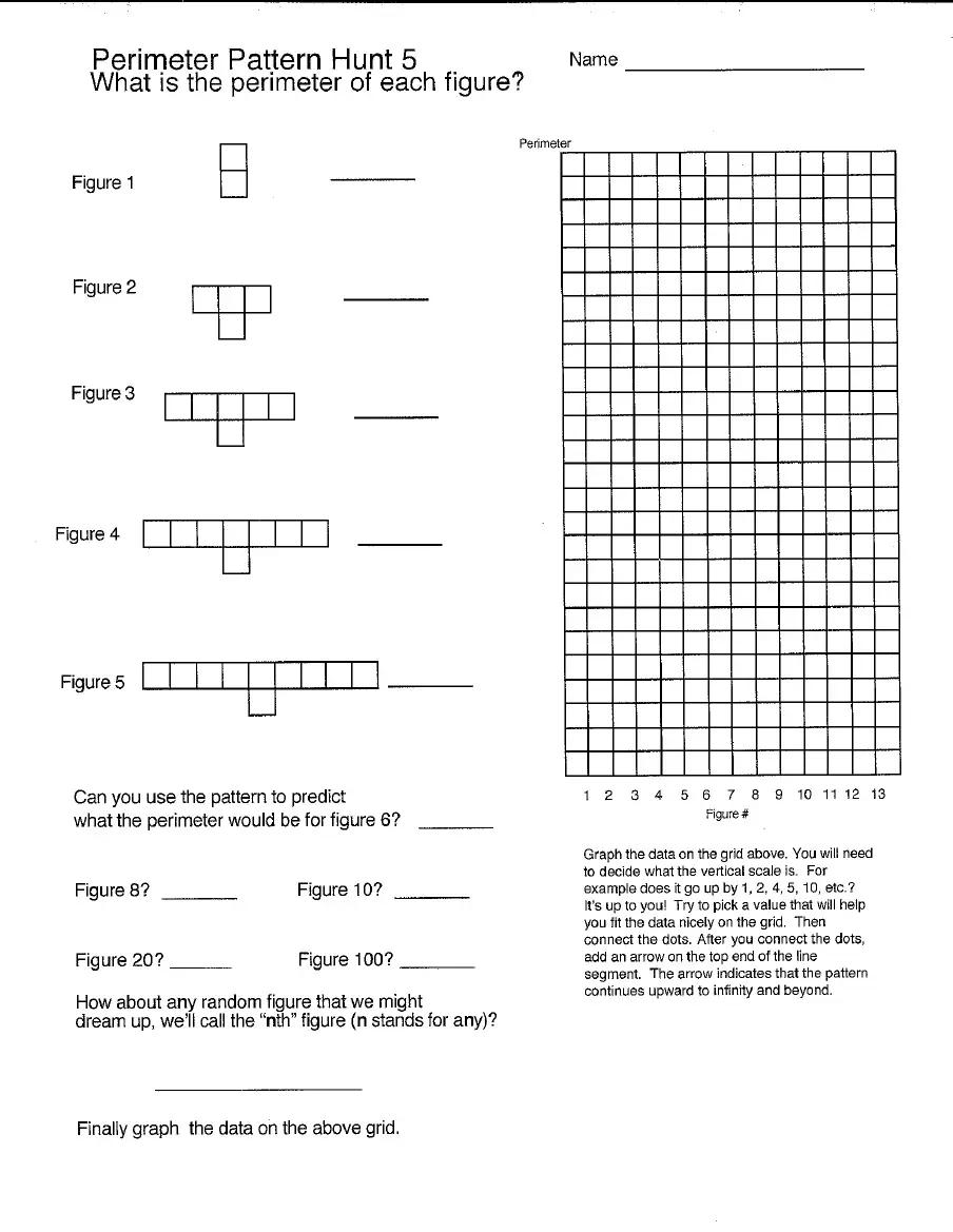 Perimeter Pat Hunt 5 8 Learning Math Math Graphing [ 1169 x 904 Pixel ]