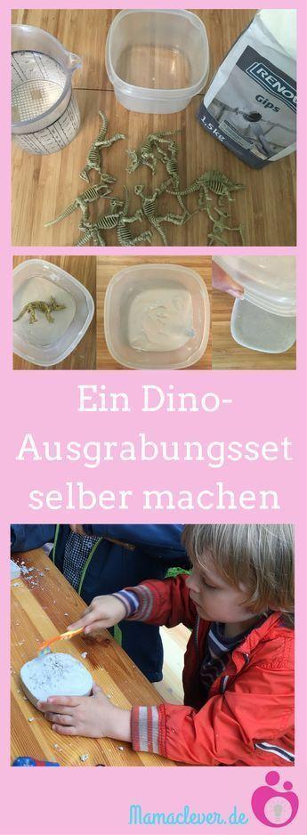 DIY: Ein Dino-Ausgrabungsset selber machen | Mamaclever.de