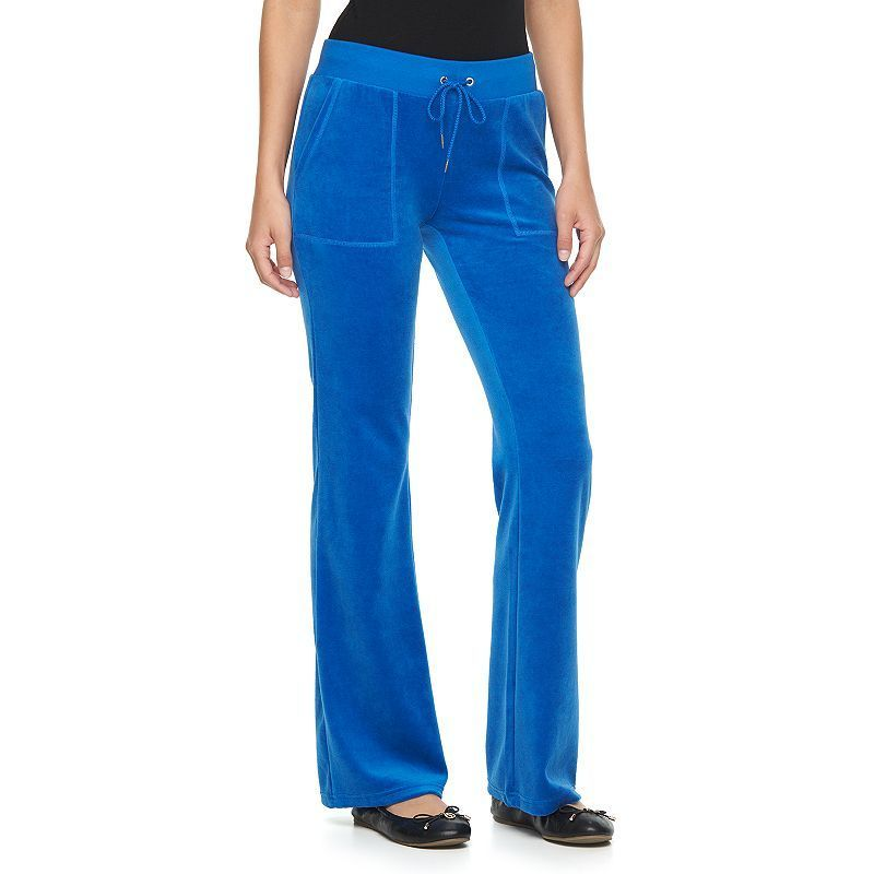 Women s Juicy Couture Solid Midrise Bootcut Velour Pants  77ab94665