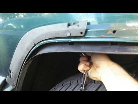 99 Jeep Cherokee Oem Fender Flare Installation Youtube Fender