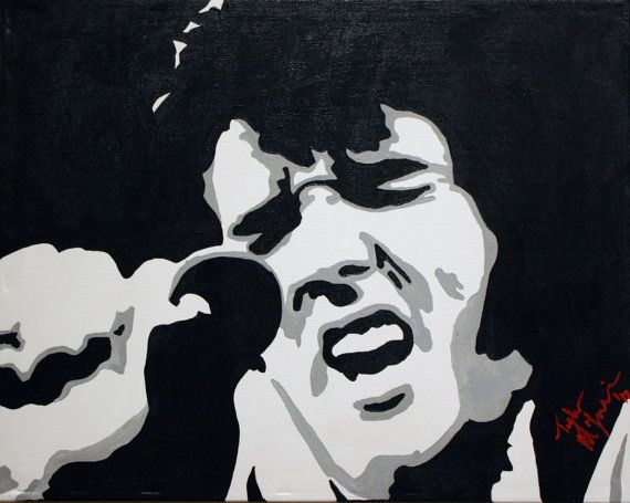 Elvis Presley Custom Hand Painted Acrylic on by Taylorpaints