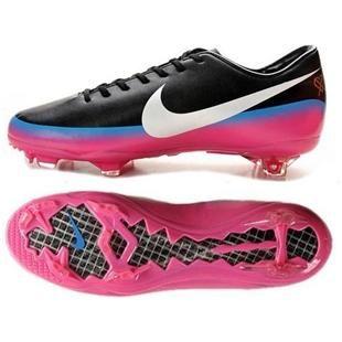 derrota ética revista  Nike Mercurial Vapor VIII CR7 FG Black White Blue Glow Pink Flash Firm  Gound Nike Vapor 8 Football Cleats   กีฬา