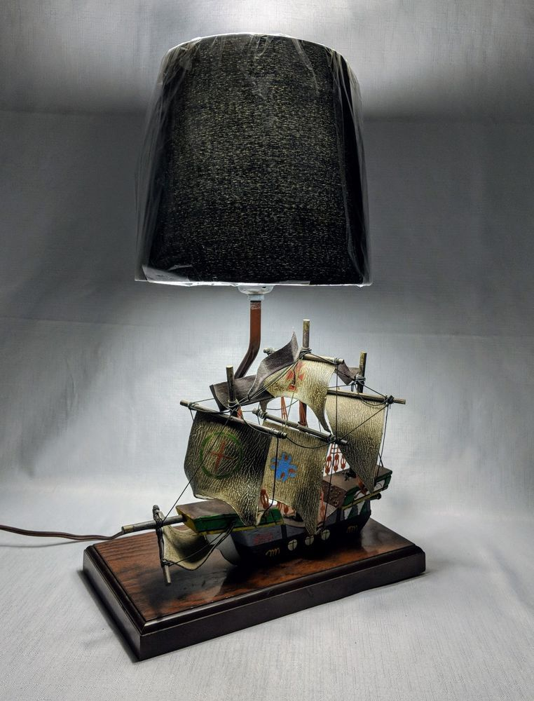 Pirate Ship Explorer Lamp Light Gilbert Softlite Nautical Boat Schooner Piratas