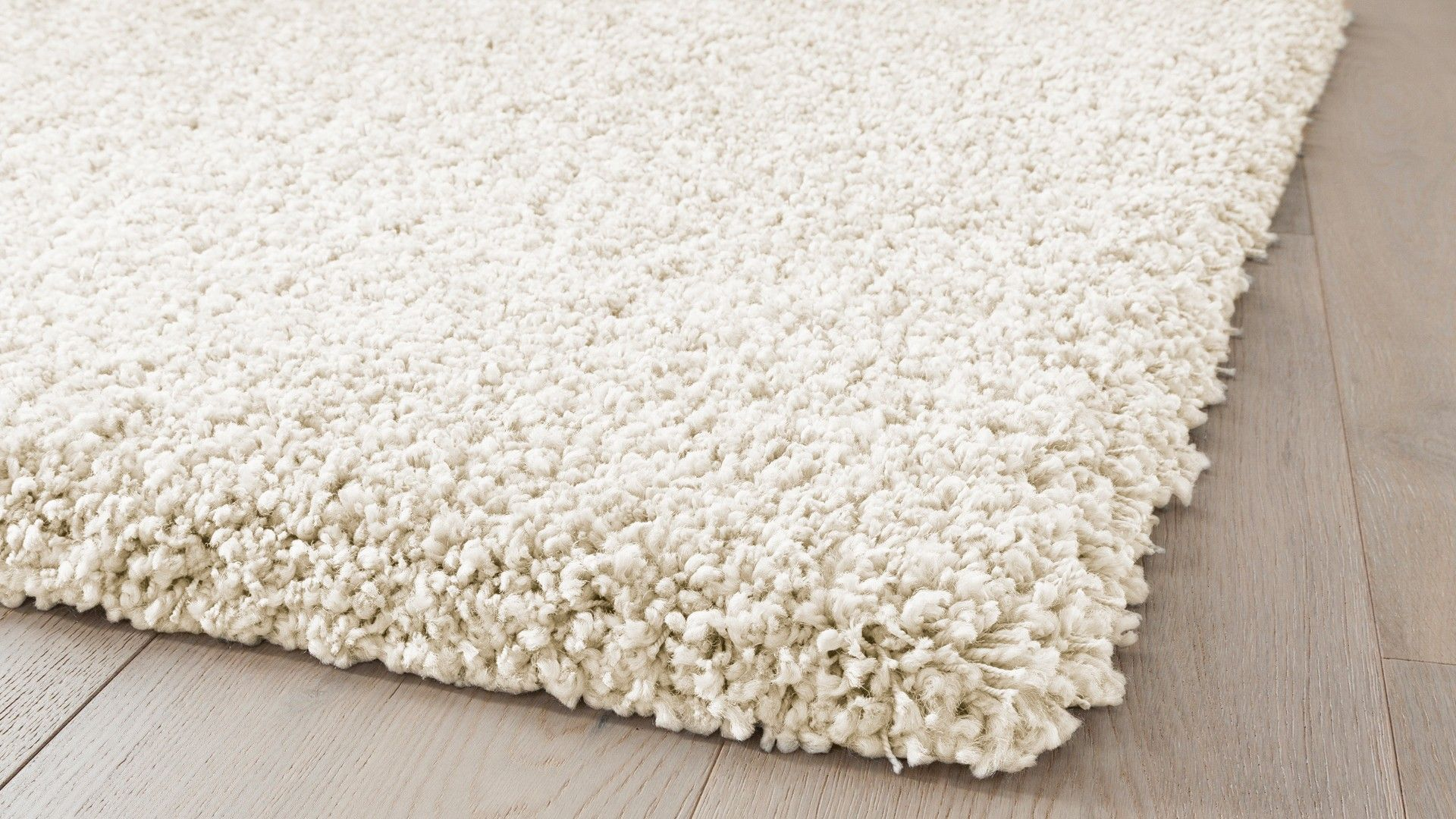 Tapis Contemporain Tapis Shaggy Blanc Diamond Saint - Tapis épais Salon
