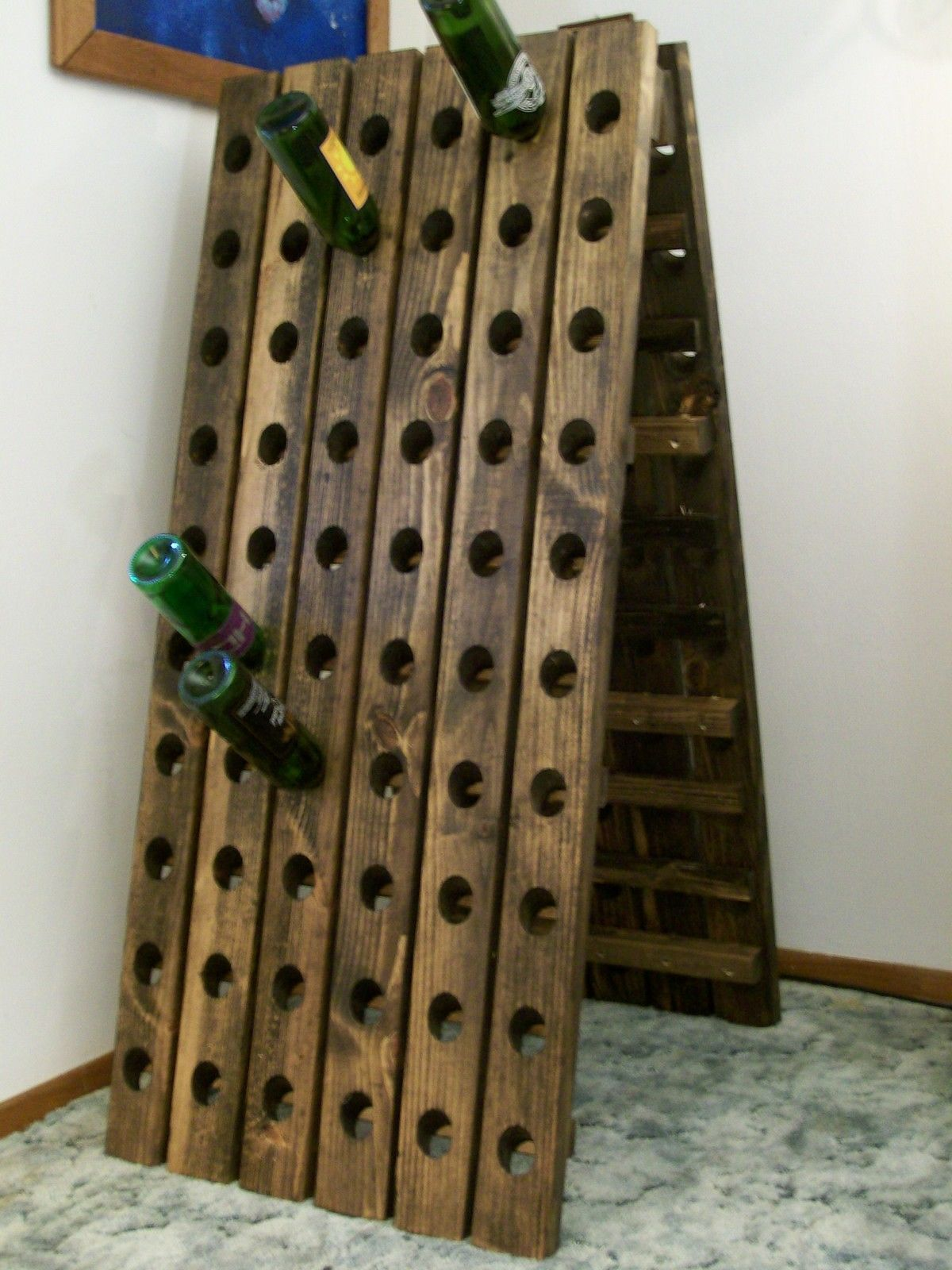 Wine rack hopefully filled with champagne!