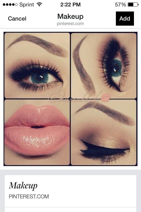 Bronze eye with pink lip