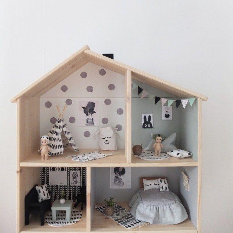 Ikea dollhouse diy a beautiful home casa mu ecas for Casita de madera ikea