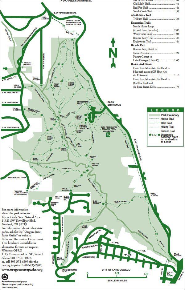 Tryon Creek State Park Map Map of Tryon Creek State Park in Portland, OR | Maps in 2019  Tryon Creek State Park Map
