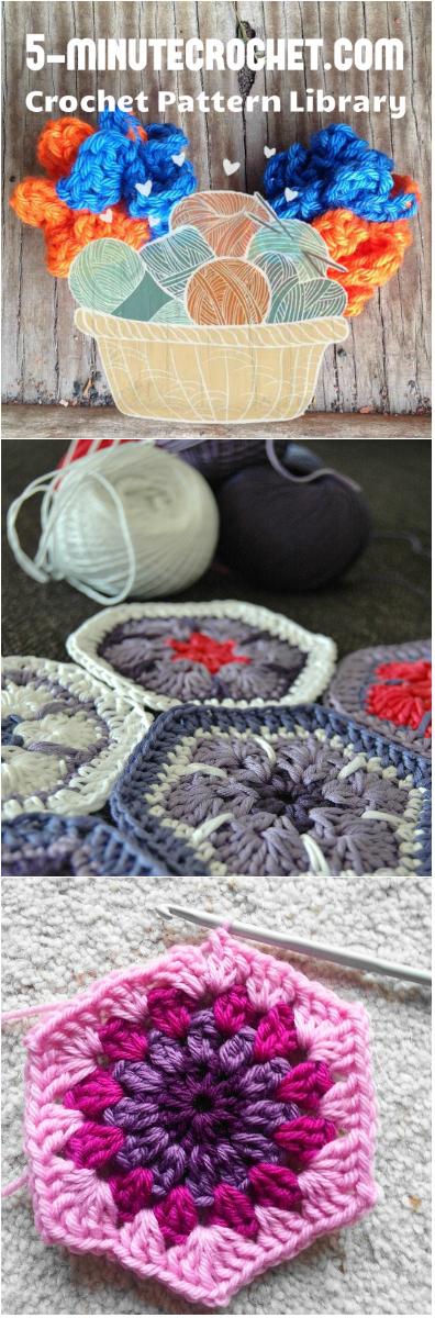 Happy Hexies 3 Free Crochet Hexagon Blanket Patterns Crochet
