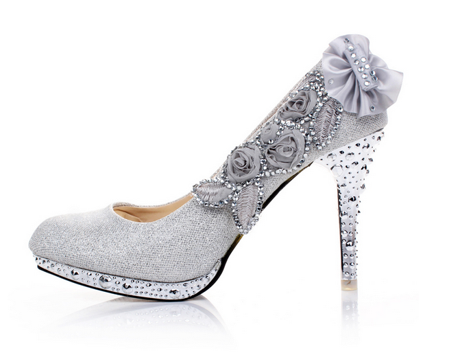Ulass Wedding Shoes Diamond Princess Wedding shoes high-heeled 8CM ...
