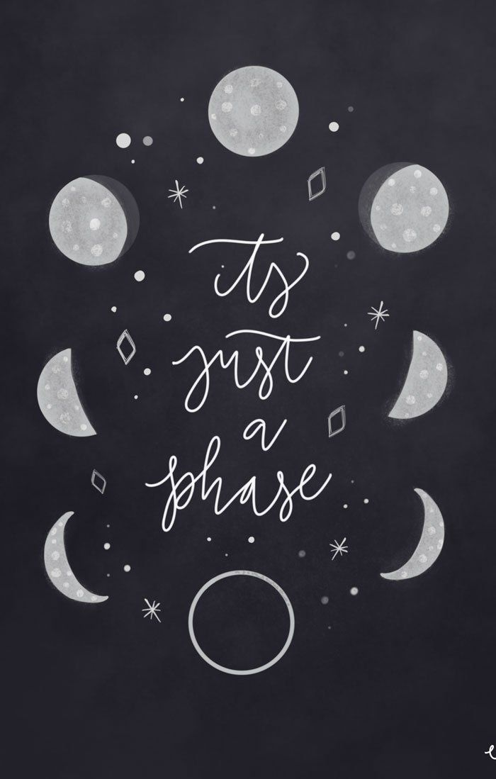 Phases Of The Moon Print Moon And Stars Wallpaper Moon Art Witchy Wallpaper