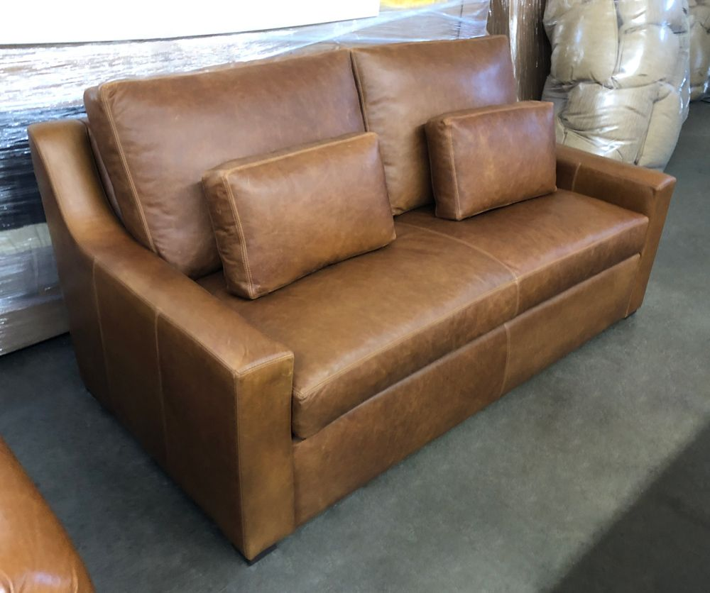 Incredible This Julien Track Arm Leather Sofa With A Bench Cushion Was Pabps2019 Chair Design Images Pabps2019Com