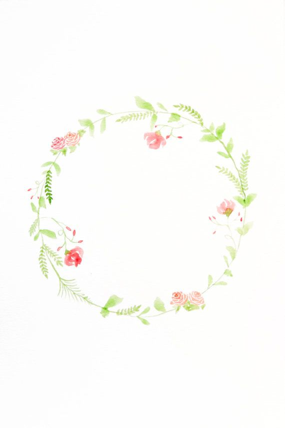 Watercolor Floral Wreath on Etsy, $20.00