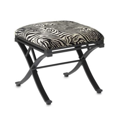 Buy Linon Home Zebra Vanity Stool From Bed Bath Amp Beyond With