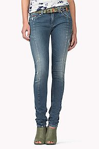 93fb076f3f6663 These Sophie jeans have a skinny fit with a skinny leg and mid rise.  Comfort stretch denim in a bright blue wash with accent seams along the  length of the ...