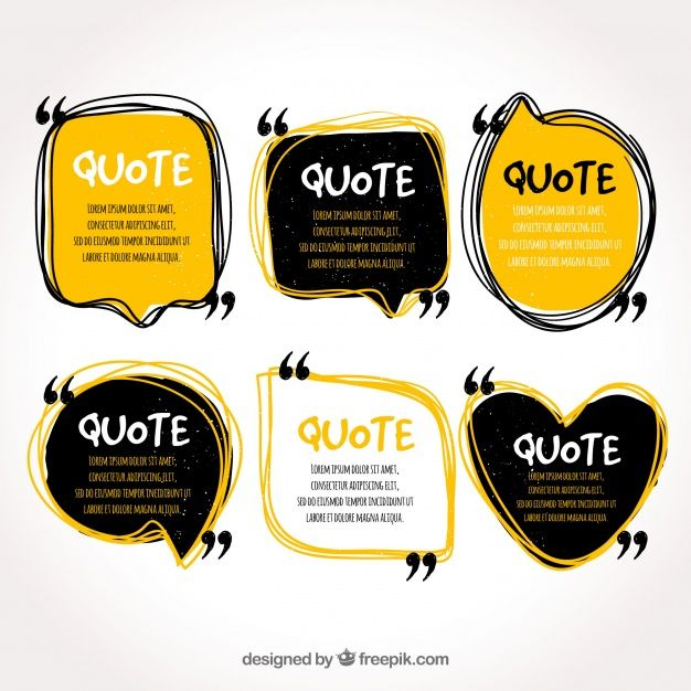 Quote template collection Free Vector freebie stock Pinterest