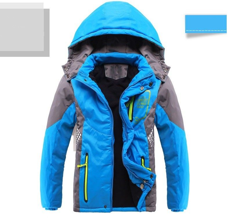 5cf4519333b Winter Thicken Children Outerwear Warm Coat Sporty Kids Clothes Double-deck Windproof  Boys Girls Jackets For 3-14T