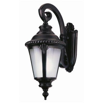 Black Livex Lighting 7851-04 Oxford 1 Light Outdoor Wall Lantern