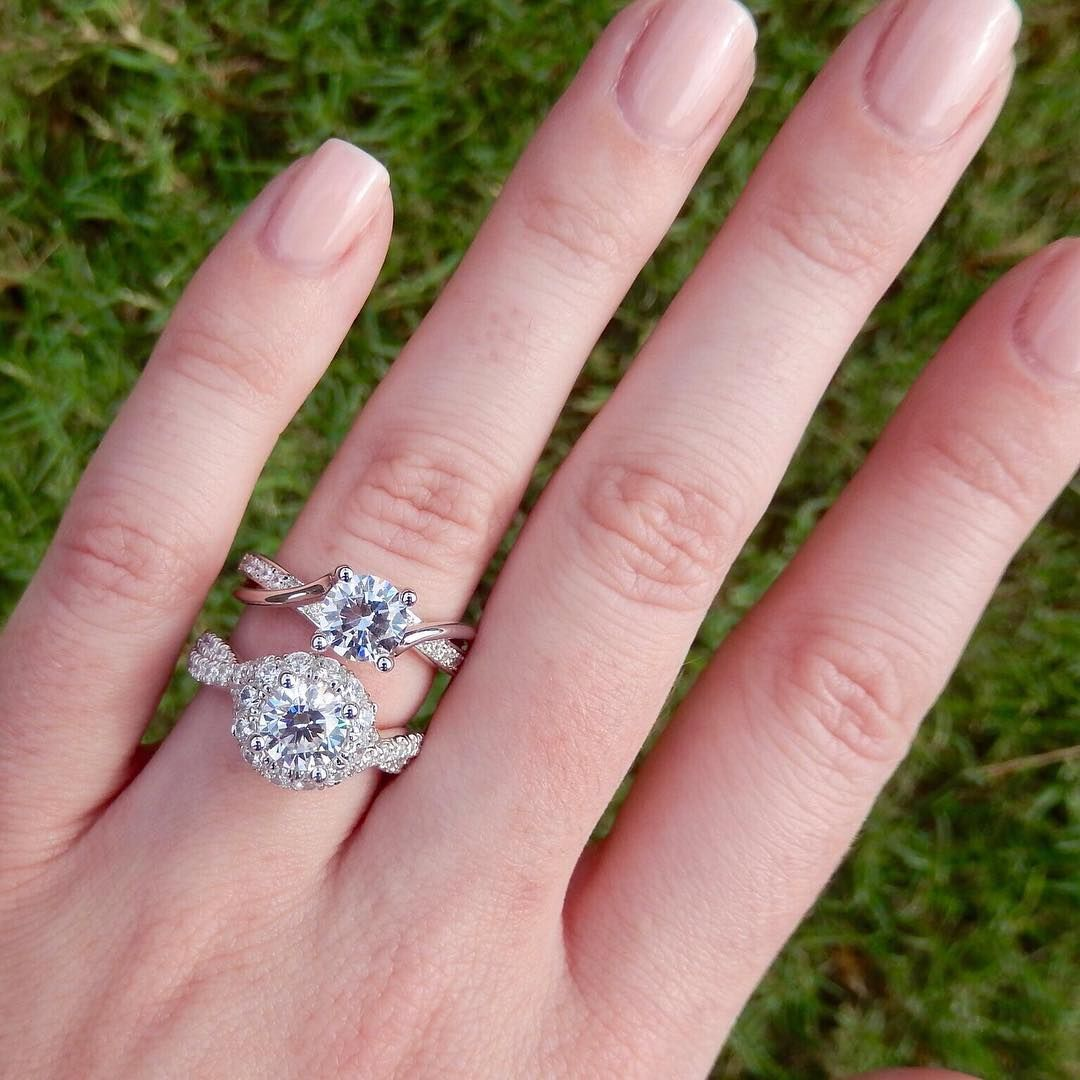 Twist Band Round Cut Engagement Ring | Which twisted band would YOU ...