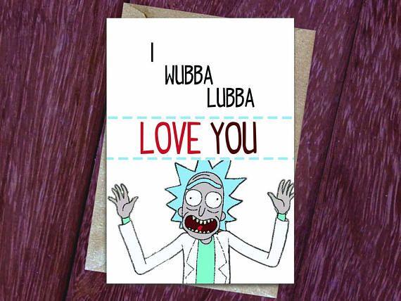 Greetings Card I Wubba Lubba Love You