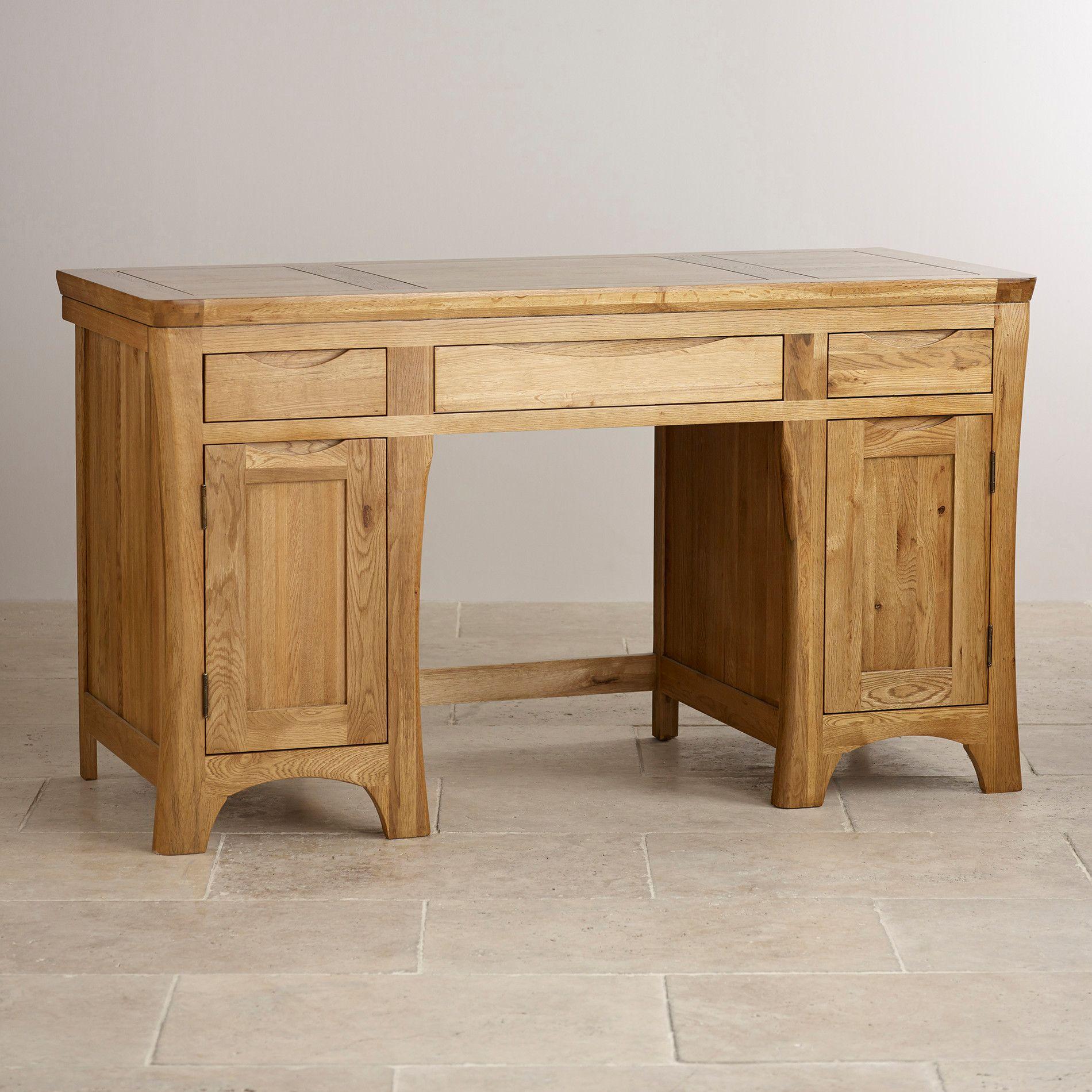 orrick rustic solid oak computer desk oak computer desk
