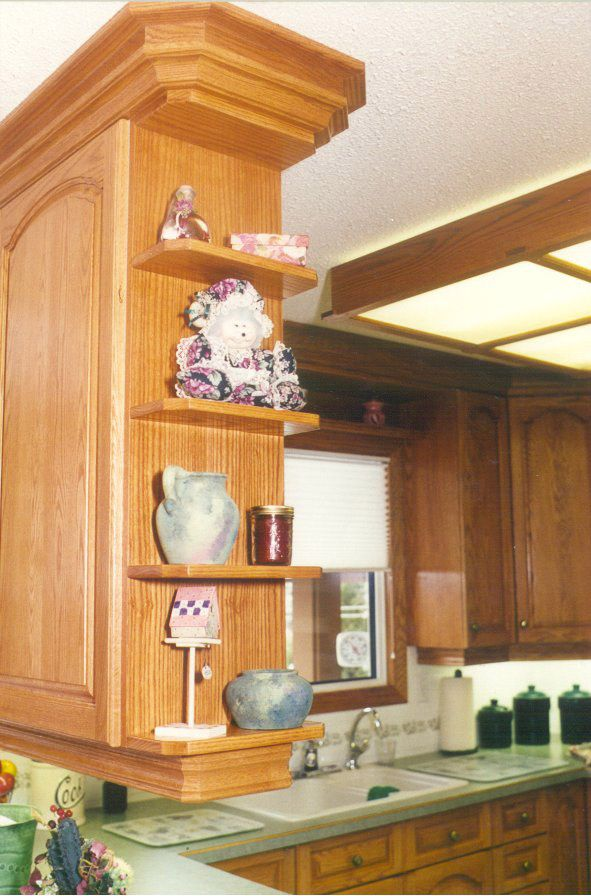 tiny shelves for ends of kitchen cabinets kitchen