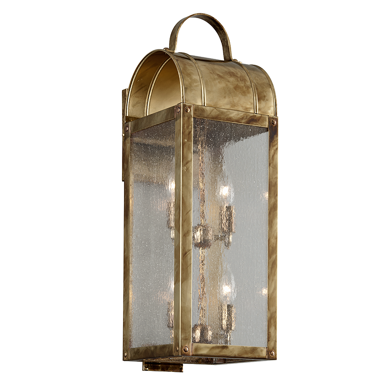 Troy Lighting Bostonian Historic Brass Outdoor Wall Mount Sconce Makes A Lasting Impression On The Overall Look Of Your Patio