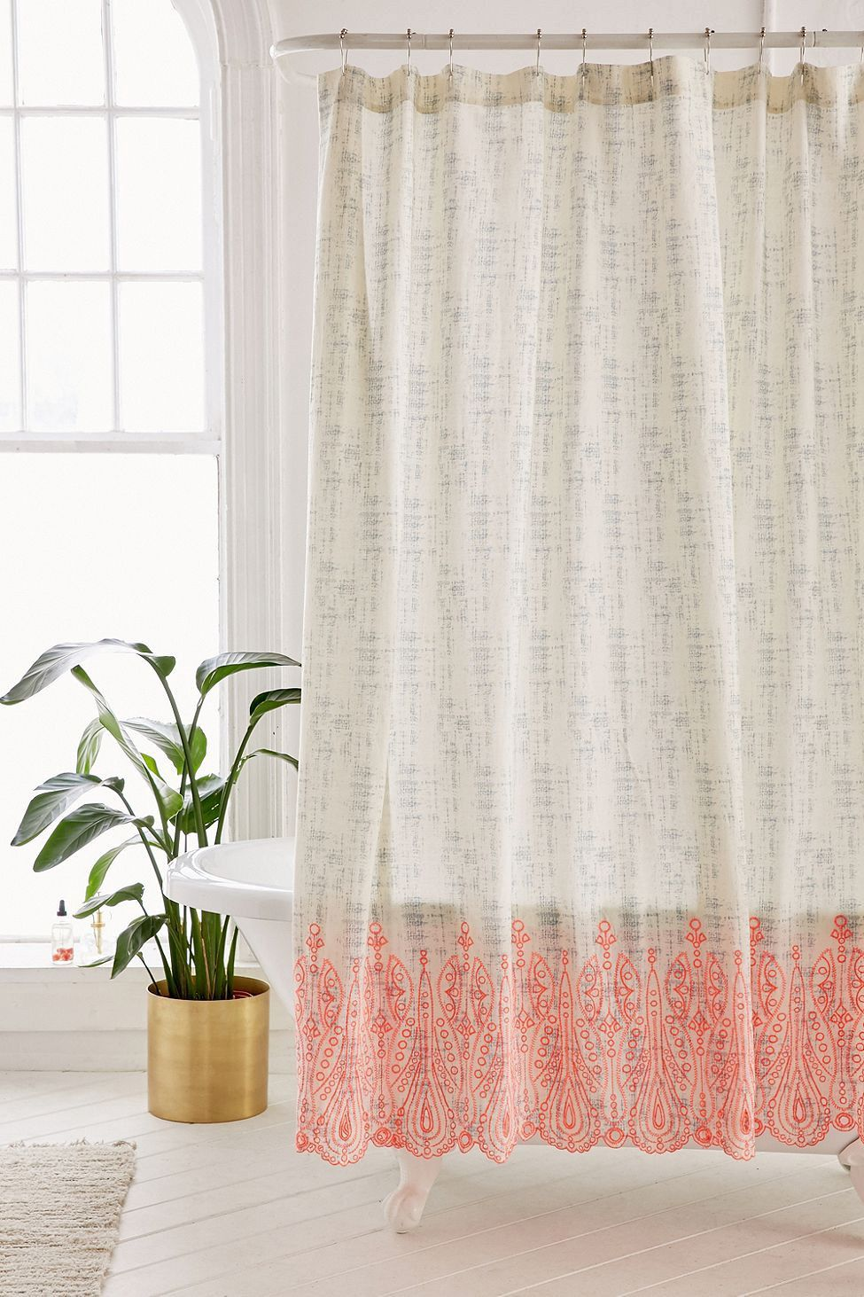 Urban outfitters emma eyelet shower curtain white x products