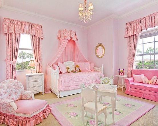 Kinderzimmer ideen für mädchen prinzessin  Pink Prinzessinnen Zimmer Design Jugendzimmer | Romantisches ...