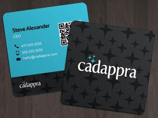 Square Business Cards With Round Corners And Spot Uv