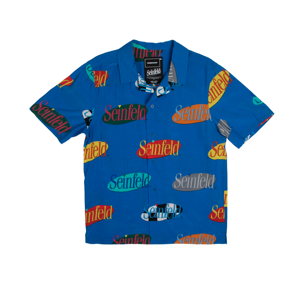 Seinfeld Logo Button Down Shirt Seinfeld Seinfeld Shirt Logo Buttons