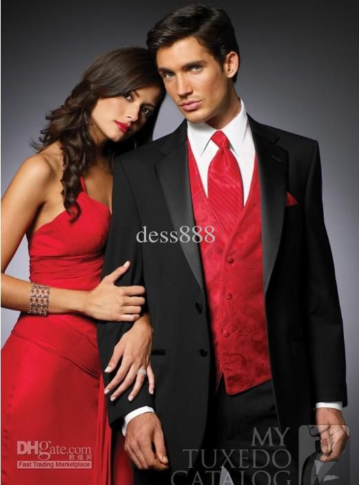 Red And Black Wedding Suits | My Dress Tip