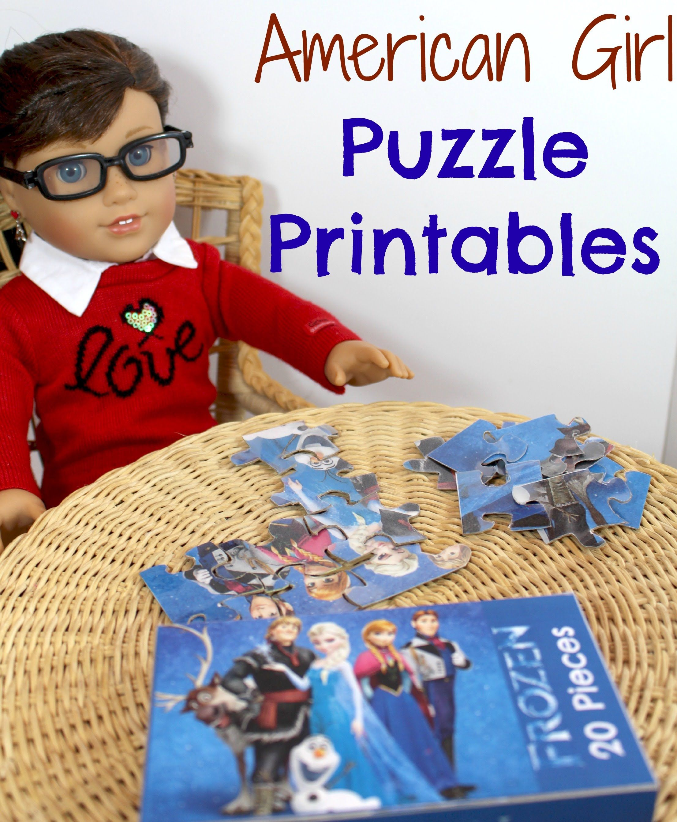 How To Make American Girl Doll Puzzles