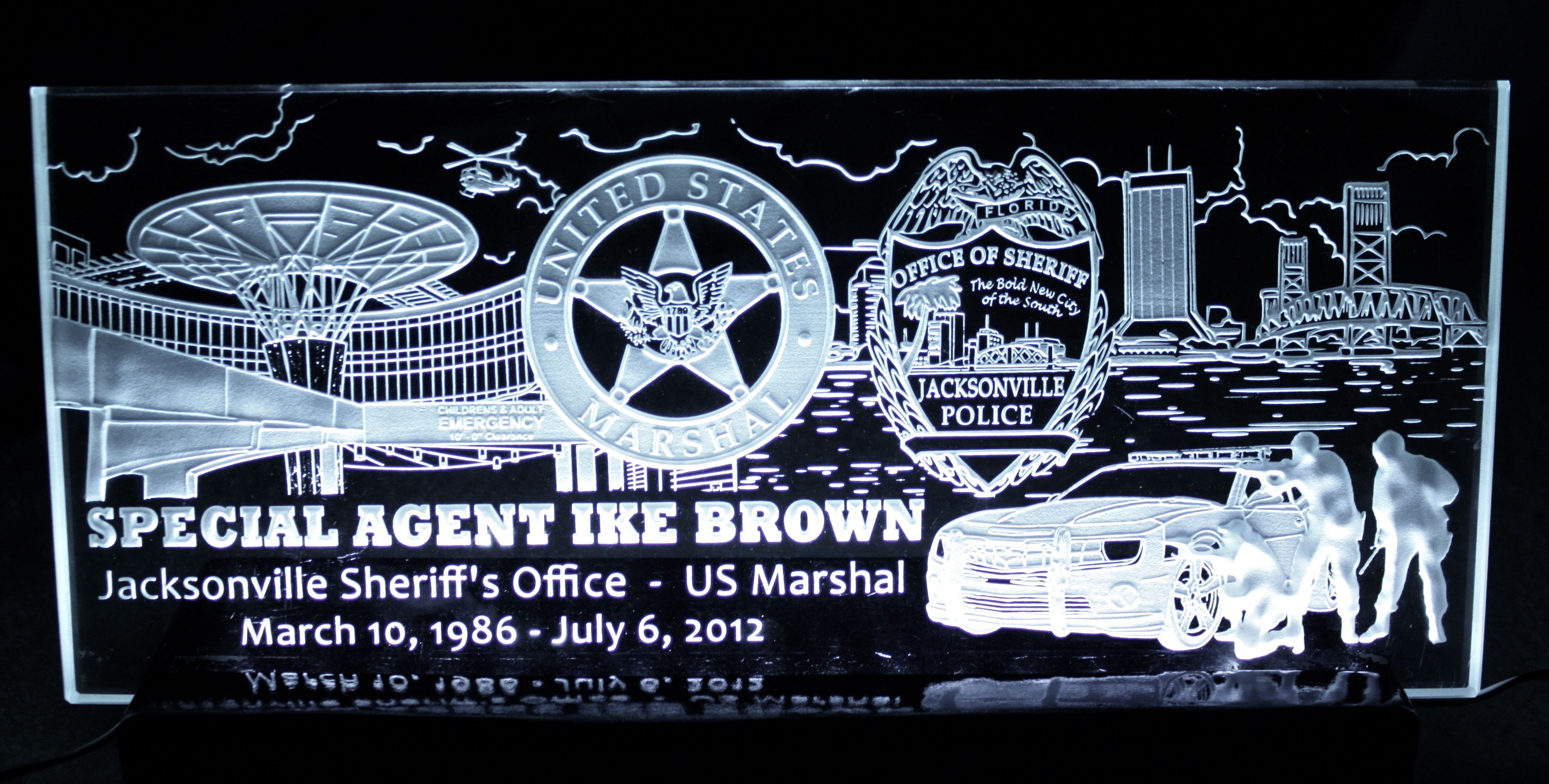 Law enforcement retirement gift for police officer brown