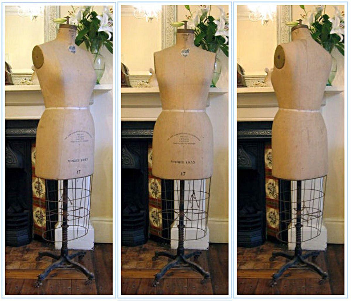 Antique French Decoupage Stockman Mannequin c1885  asewingodyssey.blogspot.com