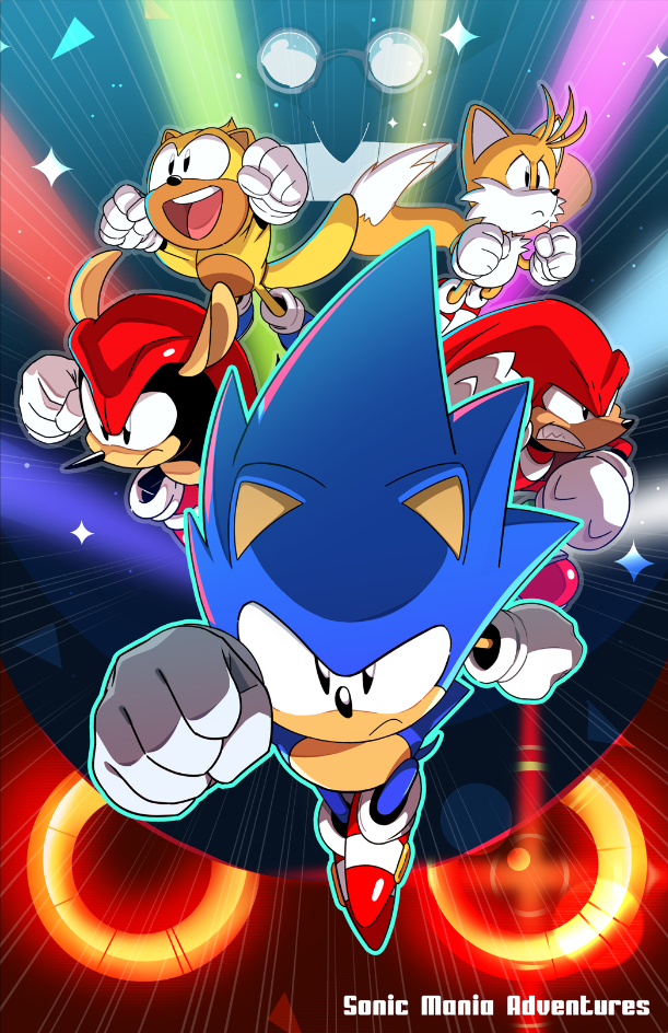 Sonic Mania Adventures poster by Tyson Hesse  | sanic | Sonic mania