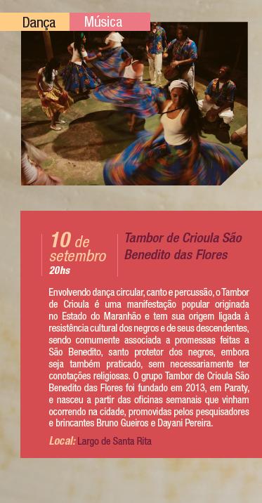 """Centro Cultural Sesc Paraty - DN  Hoje a Aldeia Paratii será no Largo de Santa Rita. A partir das 19h com o espetáculo """"Divino"""" (MA) e às 20h com Tambor de Criola São Benedito das Flores. Programe-se.  #Sesc #SescParaty #CasaSesc #CasaSescParaty #cultura #turismo #arte #VisiteParaty #TurismoParaty #Paraty #PousadaDoCareca #SiloCultural #SiloCulturalParaty #AldeiaParatii #Divino #TamborDeCriola"""
