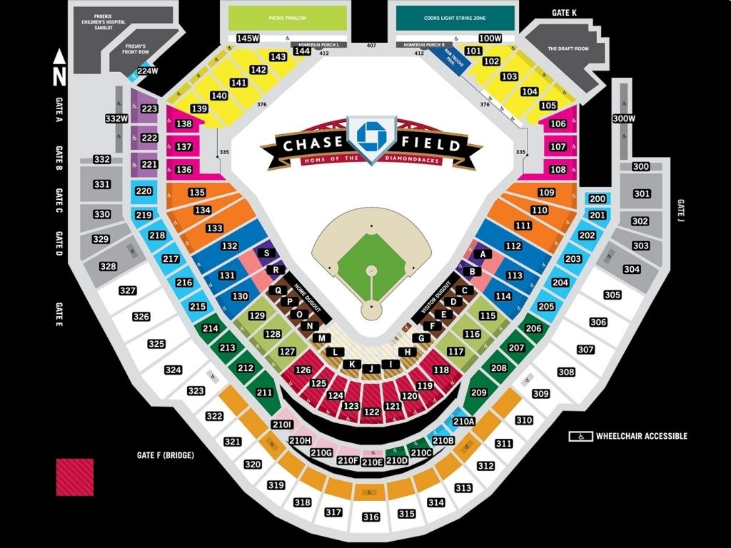 The Most Brilliant Chase Field Seating Chart Rows
