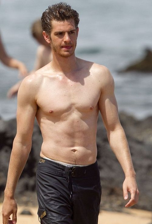 Andrew garfield man shirtless Spider