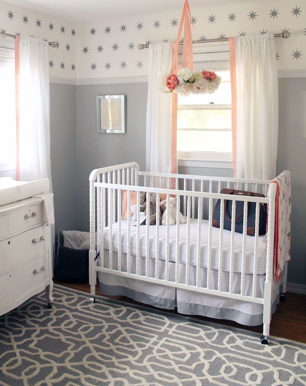 Best Peachy Pink White And Grey Baby Nursery Decorating Ideas For A Beautiful Girl Baby Girl 400 x 300