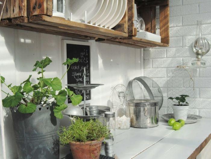 ▷1001+ idées et tutos pour fabriquer un meuble en cagette charmant - fabriquer sa cuisine en bois