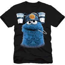 a77b1ce8 Walmart: Sesame Street Cookie Monster Milk Men's Graphic Tee | Men's ...