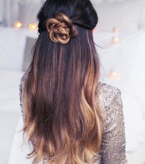 50 Half Updos For Your Perfect Everyday And Party Looks Thick Hair Styles Hair Styles Long Hair Styles