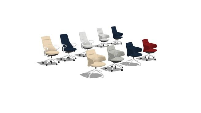 massaud conference chairs - 3D Warehouse | Sketchup - Work ...