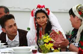 Gypsy Bride at her wedding